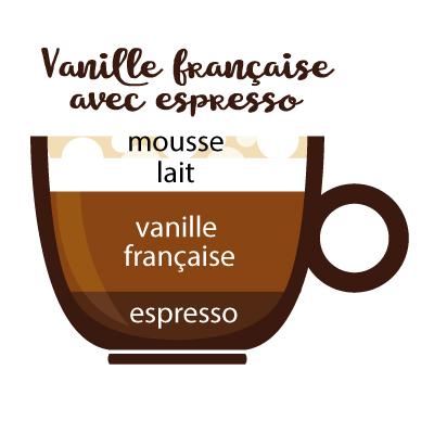 vanille française avec espresso